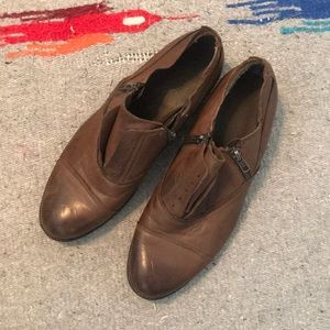 Nordstrom Brown Leather Slip On Flats - SZ 7